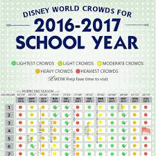 Disney World 2018 2019 Crowd Calendar Best Times To Visit