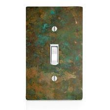 light switch plate cover aged copper image patina wall toggle home decor copper light switch plates h40