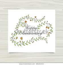 Template Anniversary Card Happy Anniversary Card Template Stock Vector Royalty Free