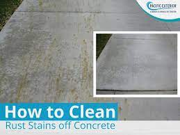 how to clean rust stains off concrete
