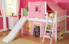 girls slide loft bed bunk beds kids loft