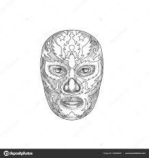Lucha Libre Mask Tattoo стоковое фото Patrimonio 166605800