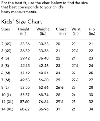 14 Unusual Size Chart For Childrens Clothing