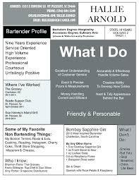 Resume Examples Bartender Resumes For Bartender Resume Example