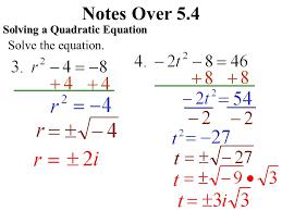 3 notes over 5 4 solving a quadratic equation solve the equation