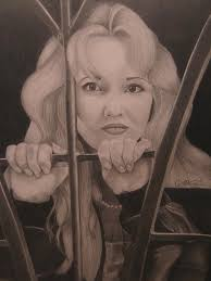 Trapped Drawing by Christina Rhodes
