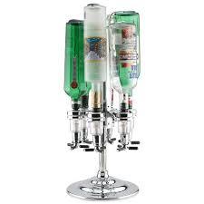 final touch rotary liquor shot dispenser holds 6 bottles