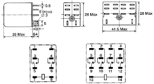 ly2 24dc omron dpdt non latching relay plug in, 24v dc coil, 10 a omron my2n relay wiring diagram Omron Relay Wiring Diagram #11