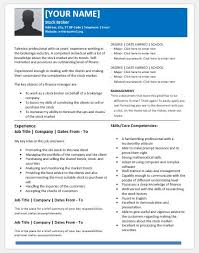 Stock Broker Resume Sample