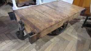 antique industrial peanut trolley coffee table