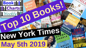 New York Times Book Best Seller Charts Top 10 Books New York Times Best Sellers May 5th 2019