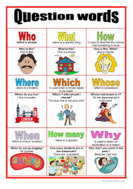 Picture Dictionary Question Words Worksheet Free Esl