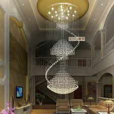 get ations 80 240 cm modern living room chandelier round crystal chandelier lamp double staircase in the
