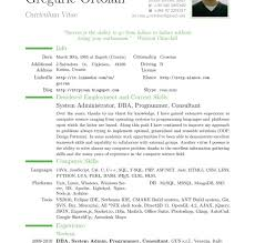 Canadian Functional Resume Example Cvs Template Vitae Cv Examples ...