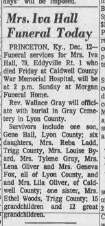 hall iva wife of robert terry hall obit 1970 - Newspapers.com