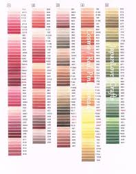 Cosmo Floss Color Chart