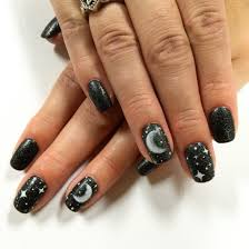Moon and star nail art | I Nailed It (: | Pinterest | Moon, Star ...