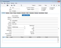 employee contact info hansaworld integrated erp and crm