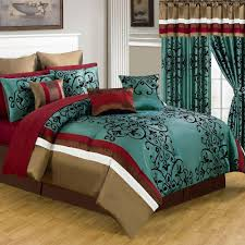 lavish home eve green 24 piece queen comforter set