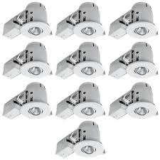 white dimmable recessed lighting kit 10 pack