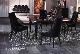 black lacquer dining room furniture. contemporary dining table set vg82 black lacquer room furniture c