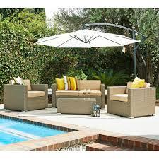 s39dente cane garden light brown 5 piece outdoor wicker outdoor wicker patio conversation sets