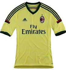 Veuillez consulter l'annonce pour tous les détails grandeur disponible: New Ac Milan Third Kit 2014 15 Green Yellow Milan 3rd Jersey 14 15 Adidas Football Kit News