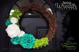 super easy spring wreath plus paper flower tutorial