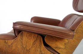 ray and charles eames furniture. Original Brown Leather Eames Lounge Chair By Ray Charles And Furniture