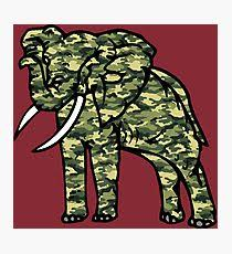 camouflage elephant photographic print on alabama elephant wall art with alabama elephant wall art redbubble