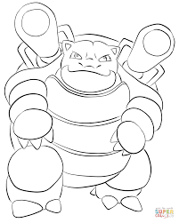Small Picture Blastoise coloring page Free Printable Coloring Pages