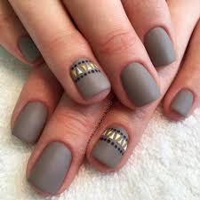 Matte nails gray   Nails   Pinterest   Aztec nails, Gray nails and ...