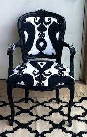 bergere side chair black chair white chair richloom iskander ikat black black kat fabric accent chair dining chair on etsy 255 00