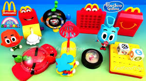 2018 mcdonald s hasbro gaming happy meal toys the amazing world of gumball full set 8 kids unbox usa