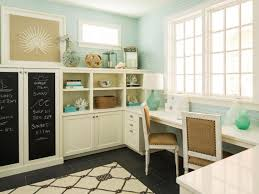 blue home office with chalkboard painted cabinets cabinets for home office