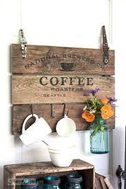 reclaimed wood mug rack urban rustic. Coffee Reclaimed Wood Mug Rack Urban Rustic E