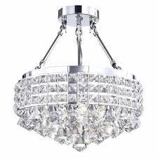 semi flush mount crystal chandelier new edvivi esg802ch marya 4 light drum semi flush mount