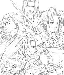 Final Fantasy Vii Coloring Pages Murderthestout