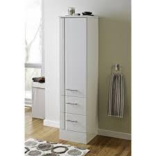 Chic Tall White Bathroom Cabinet Bathroom White Gloss Slim And Tall