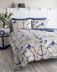 Small Picture WHARF BOAT SHIP WAVES NAUTICAL ANCHOR SUPER KING DUVET QUILT COVER