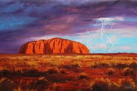 uluru paintings uluru outback australia painting by artsaus