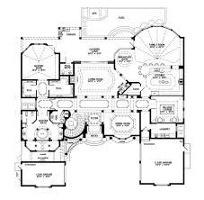 Mediterranean Style House Plan  5 Beds 550 Baths 6045 SqFt Plan House Palns