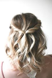 fashion half up prom hairstyles for short hair charming wedding down formal 19 image half
