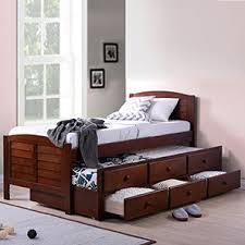 bed design furniture. fitzroy single bed with trundle and storage size dark walnut finish design furniture e