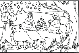 Bible Christmas Coloring Pages Free Duelprotocolinfo