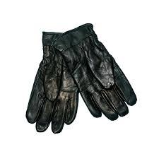 mens black leather gloves