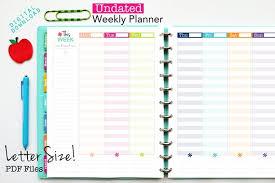 Weekly Planning Undated Vertical Weekly Planner Printable Planner Inserts Digital Download Weekly Planning Hourly Planner Time Management 2018 Planner