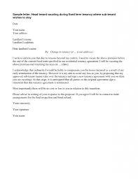 Apartment Lease Termination Letter Simple Letter Rental Lease