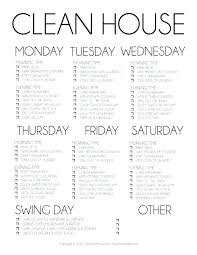 House Cleaning Checklist Printable Shared By Home Schedule