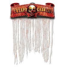 creepy carnival doorway curtain 2